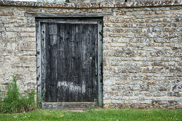 Door into farmyard, Rousham House and Garden.