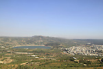 Golan Heights, a view of Birkat Ram and Druze village Masade from Nimrod