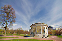 Parkman Bandstand is in the Boston Commons, which is Americas oldest public park and was established in 1634..