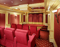 Screening Room With Camouflage Projector