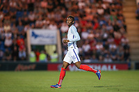 Demarai Gray (Leicester City) of England during the International EURO U21 QUALIFYING - GROUP 9 match between England U21 and Norway U21 at the Weston Homes Community Stadium, Colchester, England on 6 September 2016. Photo by Andy Rowland / PRiME Media Images.