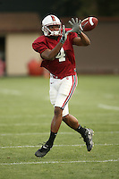 11 April 2007: Mark Bradford during spring practice at the practice field in Stanford, CA.
