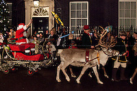 17.12.2012 - Santa Claus and his Reindeers at 10 Downing Street