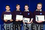 Jeremiah Carmody, Zeeshan Baig and Ken Ocao, who graduated from Coláiste Gleann Lí, on Friday afternoon last.