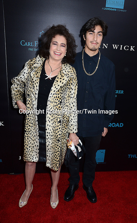 ean Young and son Rio Lujan attend the Special Screening of &quot;John Wick&quot;  on October 13, 2014 at the Regal Union Square Stadium 14 in New York City.<br /> <br /> photo by Robin Platzer/Twin Images<br />  <br /> phone number 212-935-0770