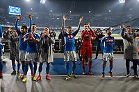 26th January 2020; Stadio San Paolo, Naples, Campania, Italy; Serie A Football, Napoli versus Juventus; The players of napoli celebrate the 2-1 win