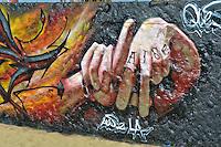 Graffiti, Colorful, Artwork, Venice Beach, CA, LA Hand Sign, Symbol, Boardwalk, creative, outlet, graffiti park,