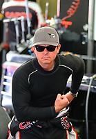 May 6, 2017; Commerce, GA, USA; NHRA top fuel driver Steve Torrence during qualifying for the Southern Nationals at Atlanta Dragway. Mandatory Credit: Mark J. Rebilas-USA TODAY Sports