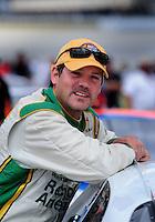 Sept 19, 2008; Dover, DE, USA; NASCAR Camping World Series East driver Steve Park during qualifying prior to the Sunoco 150 at Dover International Speedway. Mandatory Credit: Mark J. Rebilas-