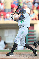 May 29, 2010: Vincent Catricala (43) of the Clinton LumberKings at Elfstrom Stadium in Geneva, IL. The LumberKings are the Midwest League Class A affiliate of the Seattle Mariners. Photo by: Chris Proctor/Four Seam Images
