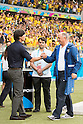 Joachim Low (GER), Luiz Felipe Scolari (BRA), JULY 8, 2014 - Football / Soccer : FIFA World Cup Brazil 2014 Semi Final match between Brazil 1-7 Germany at Estadio Mineirao in Belo Horizonte, Brazil. (Photo by Maurizio Borsari/AFLO)