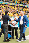 Joachim Low (GER), Luiz Felipe Scolari (BRA), JULY 8, 2014 - Football / Soccer : FIFA World Cup Brazil 2014 Semi Final match between Brazil 1-7 Germany at Estadio Mineirao in Belo Horizonte, Brazil. (Photo by Maurizio Borsari/AFLO)