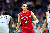 Washington, DC - MAR 10, 2018: Davidson Wildcats guard Kellan Grady (31) is fired up after a three point play during semi final match up of the Atlantic 10 men's basketball championship between Davidson and St. Bonaventure at the Capital One Arena in Washington, DC. (Photo by Phil Peters/Media Images International)