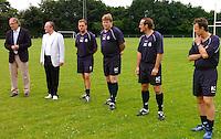 KV Kortrijk eerste training..woordje van de voorzitter aan de spelersgroep..fotos DAVID CATRY/VDB