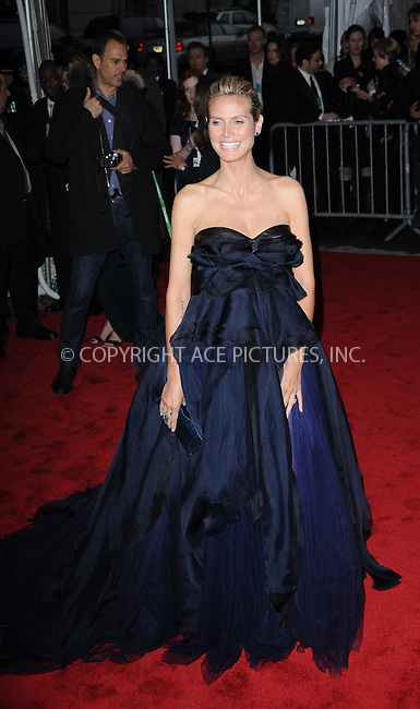 WWW.ACEPIXS.COM . . . . . ....May 4 2009, New York City....Heidi Klum arriving at 'The Model as Muse: Embodying Fashion' Costume Institute Gala at The Metropolitan Museum of Art on May 4, 2009 in New York City....Please byline: KRISTIN CALLAHAN - ACEPIXS.COM.. . . . . . ..Ace Pictures, Inc:  ..(212) 243-8787 or (646) 679 0430..e-mail: picturedesk@acepixs.com..web: http://www.acepixs.com