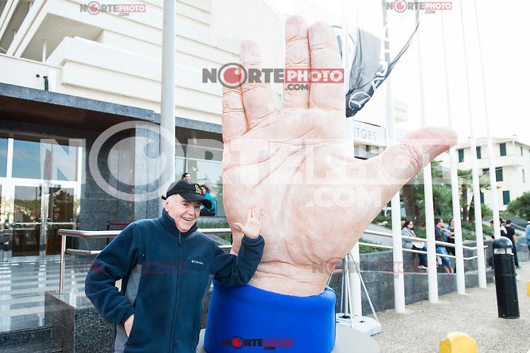 American actor Walter Koenig pose with the big hand at the door of the theater during Festival de Cine Fantastico de Sitges in Barcelona. October 11, Spain. 2016. (ALTERPHOTOS/BorjaB.Hojas) NORTEPHOTO.COM