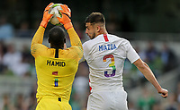 Dublin, Ireland - Saturday June 02, 2018: Bill Hamid, Matt Miazga during an international friendly match between the men's national teams of the United States (USA) and Republic of Ireland (IRE) at Aviva Stadium.