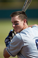 Rylan Bannon (6) of the Xavier Musketeers warms up prior to the game against the Penn State Nittany Lions at Coleman Field at the USA Baseball National Training Center on February 25, 2017 in Cary, North Carolina. The Musketeers defeated the Nittany Lions 10-4 in game one of a double header. (Brian Westerholt/Four Seam Images)