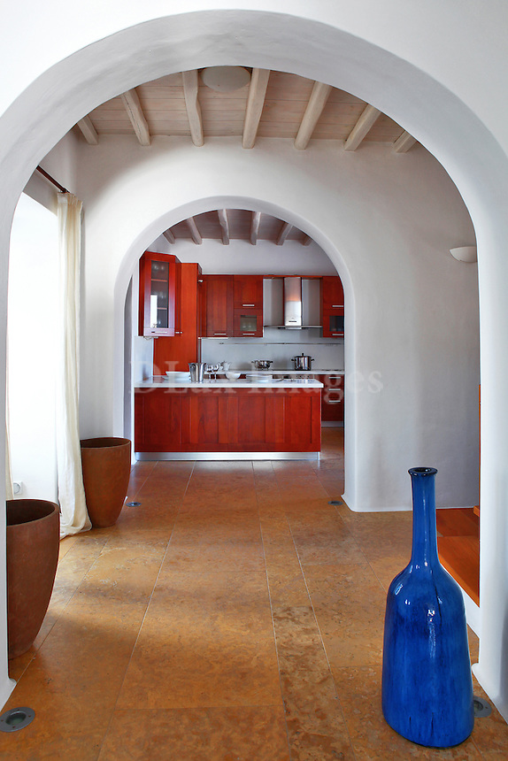 interior of cycladic house