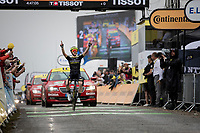 Adam Yates (GBR/Mitchelton-Scott) winning a 2nd stage win this Tour in Foix/Prat d'Albis <br /> <br /> Stage 15: Limoux to Foix (185km)<br /> 106th Tour de France 2019 (2.UWT)<br /> <br /> ©kramon