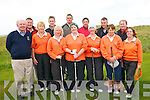 Munster Mixed Foursomes : Members of Ballyheigue Golf club who took part in the Munster mixed foursomes competition held in Ballybunion Golf club on Saturday last. Front : John Pierse, Captain, Kathleen Gilbride, Kathleen Harty, Marian Barrett, Shelia McCarthy, Lady Captain, Anne Leahy & Anne Hill. Back :Padraigh Dineen, Noel Gilbride, Kenneth Harty, Pat Dillane, James O' Sullivan & Frank Darcy