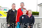 James Daly, John Culloty, Stuart Daly and Mary Donnelly at the Donal Walsh 6k walk at the Spa NS on Sunday.