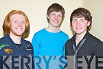 """ENTRANTS: """"EXCEL"""" Tralee rock band who hoping they win their heat in the Battle of the Bands in the KDYS Denny Street, Tralee on Friday night, l-r: Joe Fahy, Donagh Sugrue and Jason Teahan..."""