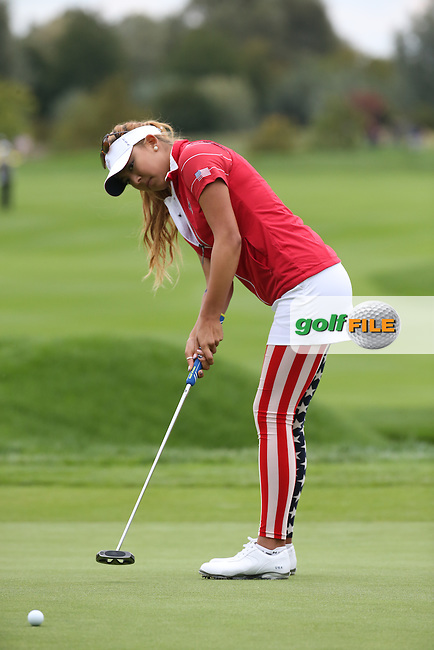 Alison Lee (USA) during Friday afternoon's Four-balls, at The Solheim Cup 2015 played at Golf Club St. Leon-Rot, Mannheim, Germany.  18/09/2015. Picture: Golffile | David Lloyd<br /> <br /> All photos usage must carry mandatory copyright credit (&copy; Golffile | David Lloyd)