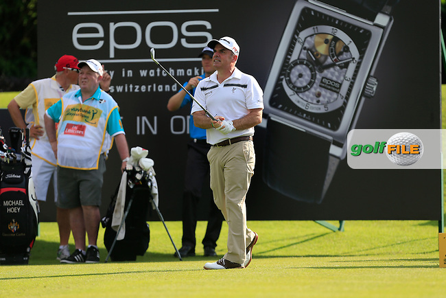 Paul McGinley (IRL) on the 11th tee during Round 3 of the Maybank Malaysian Open at the Kuala Lumpur Golf &amp; Country Club on Saturday 7th February 2015.<br /> Picture:  Thos Caffrey / www.golffile.ie