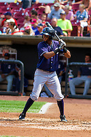 Lake County Captains shortstop Willi Castro (6) at the plate during a Midwest League game against the Wisconsin Timber Rattlers on July 24, 2016 at Fox Cities Stadium in Appleton, Wisconsin. Lake County defeated Wisconsin 6-2. (Brad Krause/Four Seam Images)