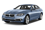 2015 BMW SERIES 5 ActiveHybrid 5 Luxury 4 Door Sedan Angular Front stock photos of front three quarter view
