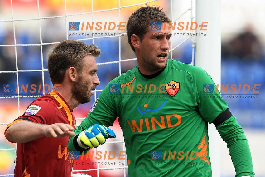 "Maarten STEKELENBURG e Daniele DE ROSSI Roma.Roma 23/10/2011 Stadio ""Olimpico"".Football Calcio Serie A 2011/2012 .Roma Vs Palermo.Foto Insidefoto Andrea Staccioli"