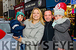 Mark, Kelly, Mark and Alanna O'Sullivan, Tralee, pictured at the Tralee Christmas Parade on Saturday.