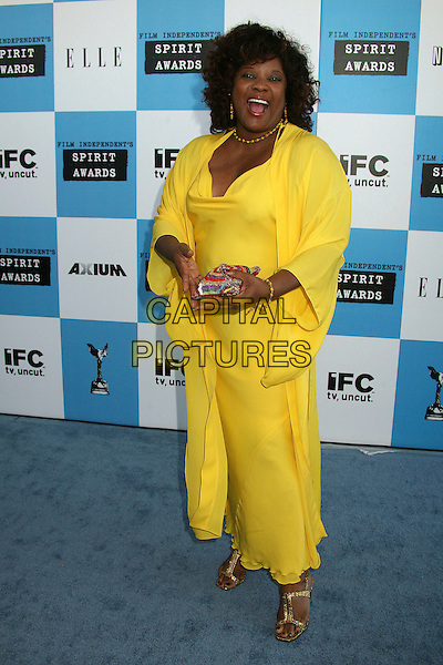 LORETTA DEVINE.2007 Film Independent's Spirit Awards at the Santa Monica Pier, Santa Monica, California, USA,.24 February 2007..full length yellow dress.CAP/ADM/BP.©Byron Purvis/AdMedia/Capital Pictures.