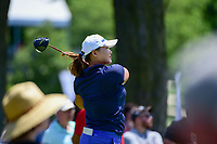 Minjee Lee (AUS) watches her tee shot on 18 during Saturday's round 3 of the 2017 KPMG Women's PGA Championship, at Olympia Fields Country Club, Olympia Fields, Illinois. 7/1/2017.<br /> Picture: Golffile | Ken Murray<br /> <br /> <br /> All photo usage must carry mandatory copyright credit (&copy; Golffile | Ken Murray)