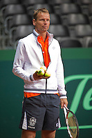 16-9-09, Netherlands,  Maastricht, Tennis, Daviscup Netherlands-France, Training, Captain Jan Siemerink