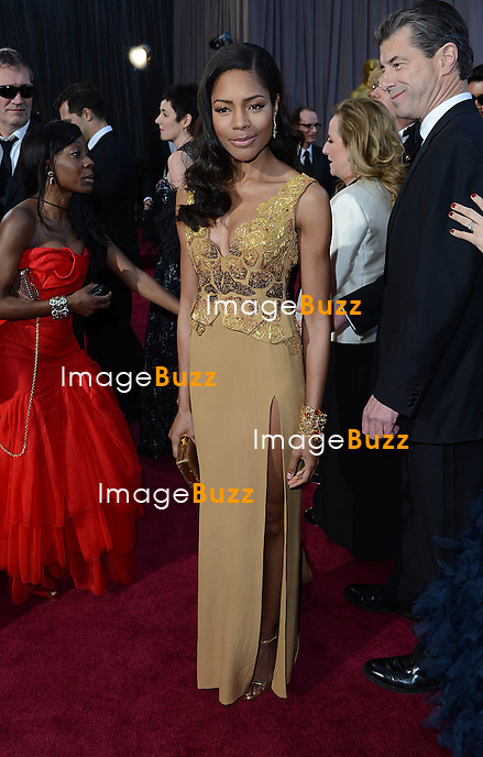 Naomie Harris arriving for the 85th Academy Awards at the Dolby Theatre, Los Angeles.