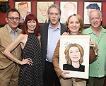 Michael Emerson, Carroie Preston, Boyd Gaines, Kate Burton and Reed Birney attend the Sardi's Caricature Unveiling for Kate Burton joining the Legendary Wall of Fame at Sardi's on June 28, 2017 in New York City.