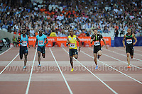 The Mens 200m race at the Sainsbury Anniversary Games, Olympic Stadium, London England, Friday 26th July 2013-Copyright owned by Jeff Thomas Photography-www.jaypics.photoshelter.com-07837 386244. No pictures must be copied or downloaded without the authorisation of the copyright owner.
