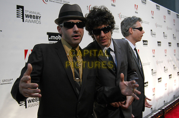 THE BEASTIE BOYS - ADAM HOROWITZ, MICHAEL DIAMOND & ADAM YAUCH.The 11th Annual Webby Awards at Cipriani Wall Street, New York City, New York, USA..April 27th, 2007.half length sunglasses shades black grey gray suit jacket hands hat.CAP/ADM/BL.©Bill Lyons/AdMedia/Capital Pictures *** Local Caption ***