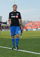 July 3, 2013: Montreal Impact defender/forward Andrew Wenger #33 leaves the pitch after the warm-up during an MLS game between Toronto FC and Montreal Impact at BMO Field in Toronto, Ontario Canada.<br /> The game ended in a 3-3 draw.