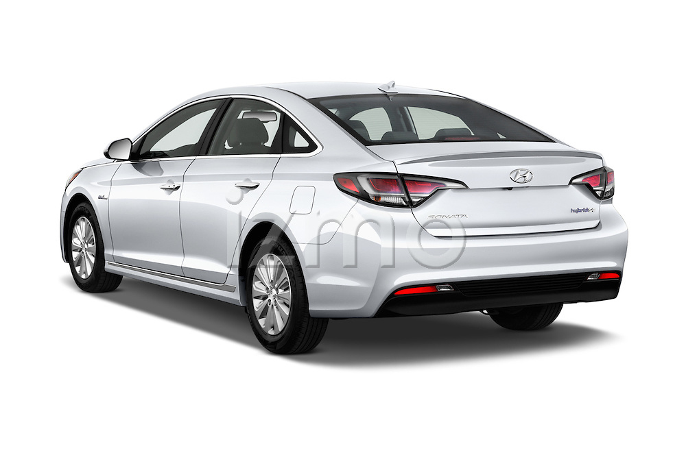 Car pictures of rear three quarter view of 2017 Hyundai Sonata-Hybrid Hybrid 4 Door Sedan Angular Rear