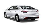 Car pictures of rear three quarter view of 2017 Hyundai Sonata-Hybrid Hybrid 4 Door Sedan Angular Rear