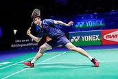 17th March 2018, Arena Birmingham, Birmingham, England; Yonex All England Open Badminton Championships; Shi Yuqi (CHN) in his semi-final match against Son Wan Ho (KOR)