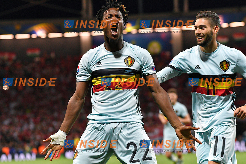 Michy Batshuayi forward of Belgium scores and celebrates   <br /> Toulouse 26-06-2016 Stade de Toulouse Football Euro2016 Hungary - Belgium / Ungheria - Belgio Round of 16. Foto Peter De Voecht / Panoramic / Insidefoto