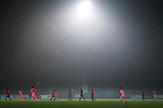 Coventry United 3 Highgate United 5, 17/10/2017. Butts Park Arena, Birmingham Senior Cup. Coventry attack as the mist closes in.  Photo by Paul Thompson.