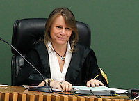 ilò giudice Giovanna Ceppaluni nell   aula del tribunale di napoli durante il processo contro Valter Lavitola per corruzione