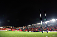 Interior view of the stadium during the Guinness PRO14 match between Scarlets and Cardiff Blues at Parc Y Scarlets Stadium, Llanelli, Wales, UK. Saturday 28 October 2017