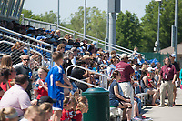 Kansas City, MO - Saturday May 13, 2017:  Fans prior to a regular season National Women's Soccer League (NWSL) match between FC Kansas City and the Portland Thorns FC at Children's Mercy Victory Field.