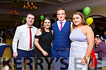 Enjoying the Kerry GAA awards night in the Ballygarry House Hotel on Saturday night.<br /> L-r, Steven O'Sullivan (Tralee), Deirdre Kelly (Tralee), Jason O'Connor (Miltown) and Maura Twiss (Miltown)